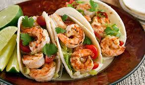 La Sazon Shrimp Fish tacos