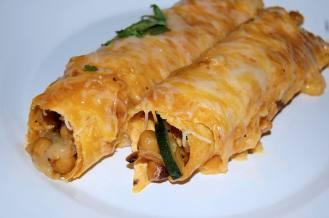 La Sazon Zucchini Green enchiladas